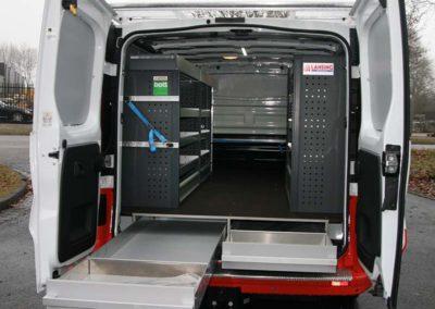 Beks ladesysteem icm bott inrichting voor bedrijfswagen