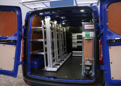 Internal glass rack combined with Bott Vario vehicle equipment