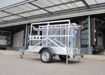 steiger aanhangwagen voor opslag en transport steigermateriaal