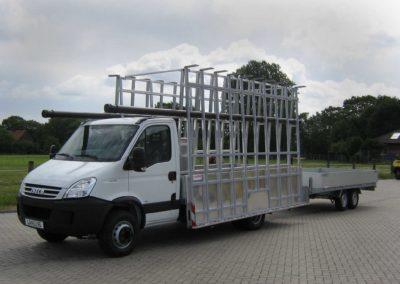 Glasreff für den Pritschenwagen an beide seiten von Aluminium