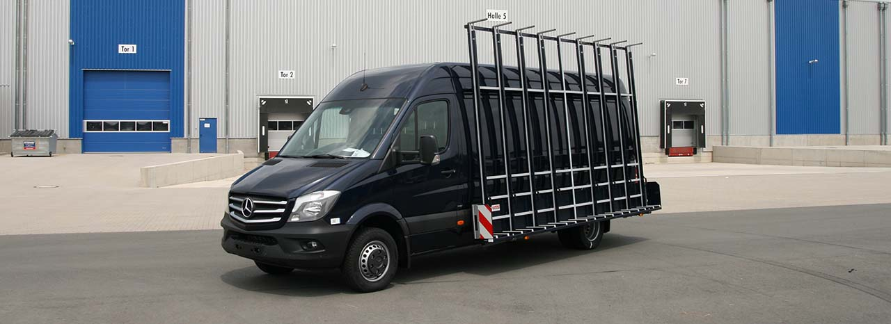 Lansing Aluminium Glass rack mercedes sprinter
