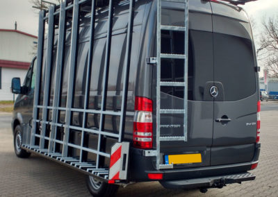 mercedes sprinter with glazier rack for flat glass panels