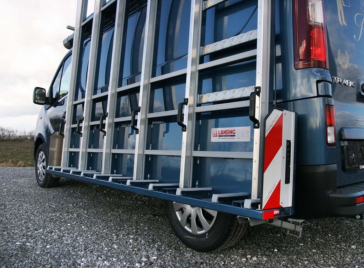 aluminium glass rack for glaziers