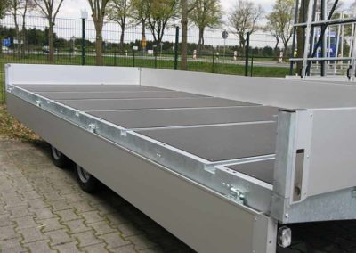 Multifunctional trailer the Multimaster with aluminium side boards