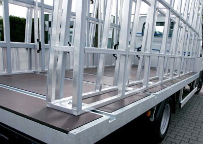 Glassracks pick up for glastransport of flat glass - lansing unitra
