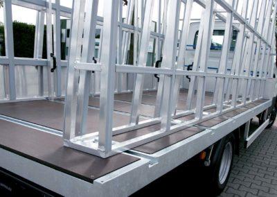 glastransport - chassis cabine - lansing unitra - glasresteel